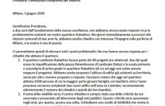 Lettera del Comitato Pru Rubattino al Municipio 3 Miniatura